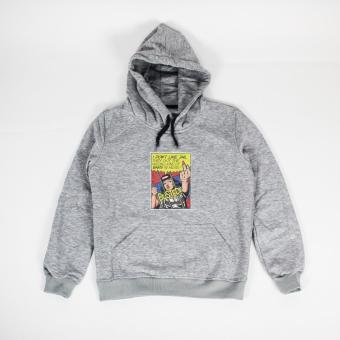 Áo khoác hoodie nữ in hình I Do Not Like Jail (xám nhạt)