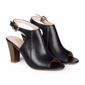Giày cao gót nữ 9cm Hùng Cường HC1301 (Đen)