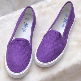 Giày Slip on nữ trần chỉ (tím)