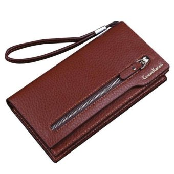 Men Wallets Leather Card Cash Receipt Holder Organizer Wallet 3-Fold Purse - intl
