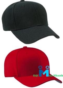 Bộ 2 nón lưỡi trai street style - F5 (đen + đỏ)
