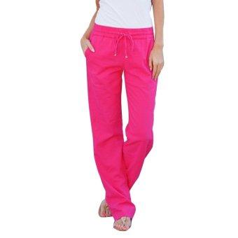 New fahsion sport loose pants woman pants rose red - Intl