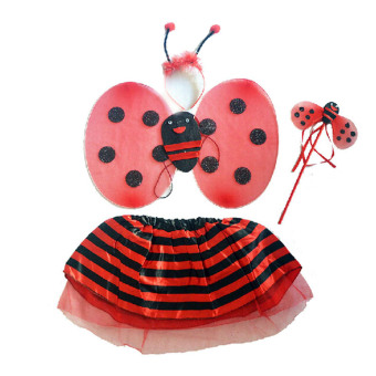 Cute Ladybug Style Children Kids Dresses Costume for Halloween Cosplay Party - intl
