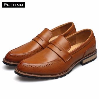 Giày Lười Nam Cao Cấp - Pettino GL-09 (nâu)