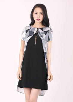 Đầm tuytsi lụa tà bông trang trí Bella Moda