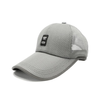 Moonar Outdoor Sun Baseball Hat Fashion Colorful Golf Mesh Breathable Cap (Grey) - intl