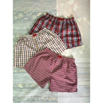 Bộ 3 quần short Caro cho nam cao cấp