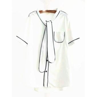 Áo thun nữ cà vạt trắng LTTA21