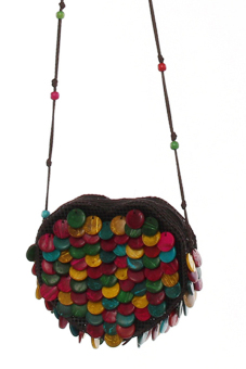 LALANG Coconut Shell Bag Crossbody Ethnic Style Multicolor