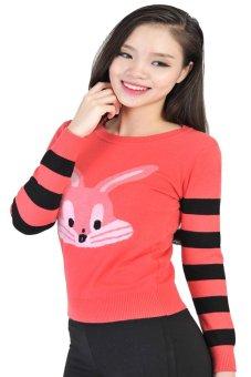 Áo len nữ con thỏ HQLens (Hồng)
