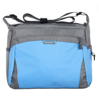 Colorful Sports Bags Women Leisure Travel Bag Men Shoulder Bag Handbag Blue - Intl
