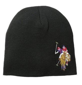 Mũ (nón) len nam U.S. Polo Assn. Men's Solid Beanie (Mỹ) (Đen)