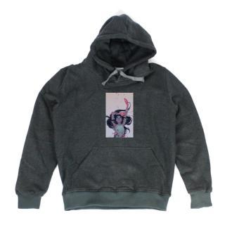 Áo khoác hoodie nữ in hình Million Us (xám đậm)