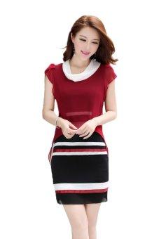 Đầm công sở trẻ trung giấu bụng big size thời trang TB25515
