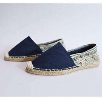 Giày phủi nữ đế viền cói GP01 (Xanh đen)