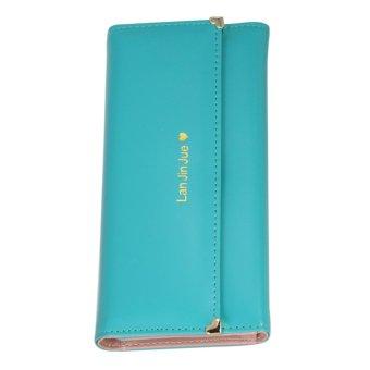 Fashion Women Love Folding Wallet Purse Phone Case Handbag Green - Intl - intl