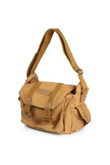 Caden F1 Canvas DSLR Camera Shoulder Bag Khaki - Intl