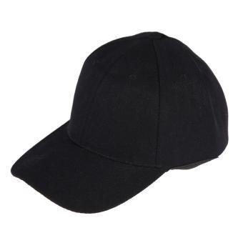 Womens Men Sport Baseball Visor Cap Plain Blank Golf Ball Hat(Black) - intl