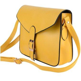 Linemart Preppy Style Women Lady Designer Satchel Shoulder Bags Messager Purse Handbag Tote Bag ( Yellow ) - intl