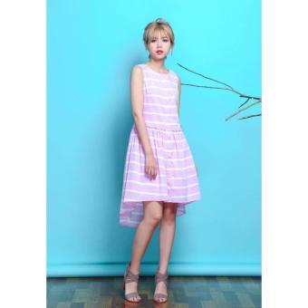 Mua Đầm suông cotton sọc màu pastel (Màu hồng) giá tốt nhất