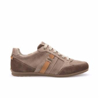 Giày Sneaker Da Geox U HOUSTON A (Nâu Đậm)