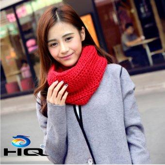 Khăn Len Quàng Cổ Nữ Dệt Kim Nhẹ Ấm Áp Hq 3ti14-3 (Đỏ)