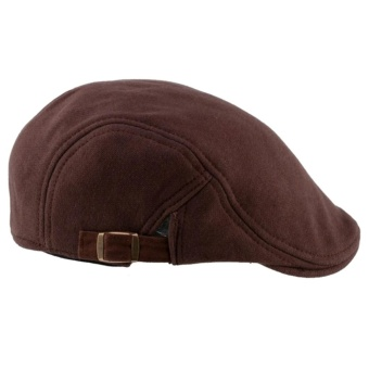 Moonar Fashion Cap Unisex Man Women Duckbill Visor Artist Ivy Hat Golf Driving Flat Newsboy Beret peaked Sun Cap Classic Hats(coffee) - intl