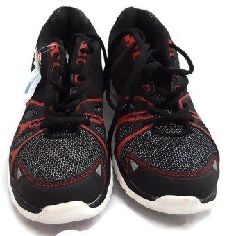 Giày thể thao nam Fila black mesh shoes (US) (Đen đỏ)