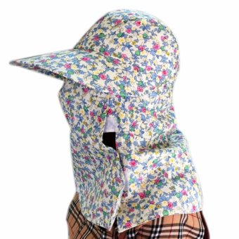 Mũ khẩu trang chống nắng hai lớp chống tia cực tím họa tiết hoa nhí