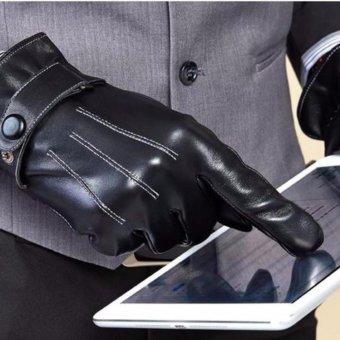 Găng tay nam da cảm ứng điện thoại