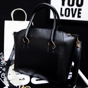 Women Classy PU Leather Shoulder Bag Tote - intl