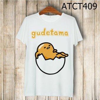 Áo Thun Trứng Lười Gudetama Nằm Trong Vỏ - MITADI - ATCT409 (Trắng)