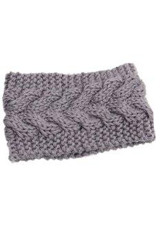 Lalang Knitting Needle Hairband Grey