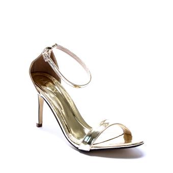 Giày xăng đan cao gót quai mảnh Mozy MZSD010.3 (Vàng đồng)