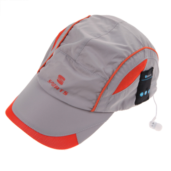 Outdoor Bluetooth Stereo Music Hat Headphone Earphone Sport Cap(Gray) - intl