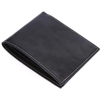 Baellerry Men Transverse Leather Bifold Purse/Wallet (Gray) - Intl