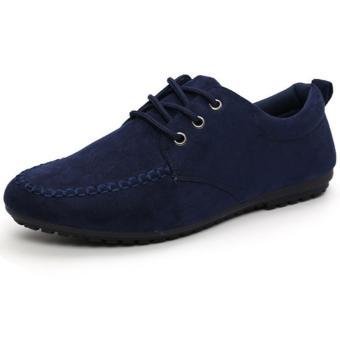 Giày lười vải nhung Glado G07X (Xanh)