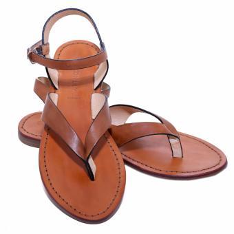 Sandal nữ xỏ ngón da thật