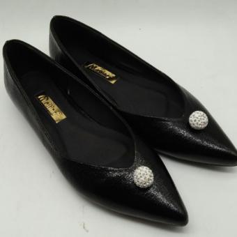 Giày búp bê đính hột Mattino (Đen)