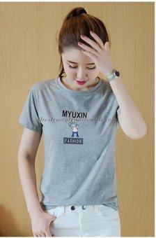 Áo Thun Nữ In Hình Myuxin Dễ Thương D313 Phong Cách Hàn Quốc ( Màu Xám )