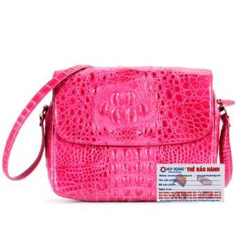 HL6206 - Túi xách da cá sấu Huy Hoàng hộp vuông màu hồng