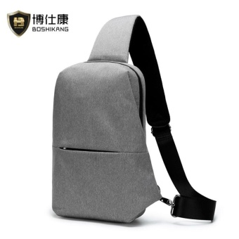 BOSHIKANG Brand Waterproof Oxford Chest Bag Fashion Crossbody Bag Casual Chest Pack (Grey) - intl