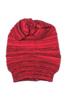 Knit Baggy Beanie Ski Cap (Red)