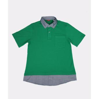Áo thun polo trẻ em Antix màu xanh lá cây