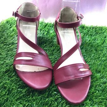 Giày gót vuông quai chéo cách điệu-gót 5cm