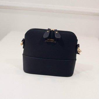 Korean Retro Suede Bag Leather Women Small Shell Do Old Messenger Bag CrossBody Bag Lady Handbag Causal Travel Clutch (Black) - intl