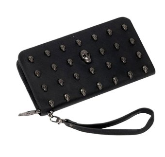 niceEshop Skull Wristlet Case For iPhone 5 4s Galaxy Note 2 S3 I9300,Black