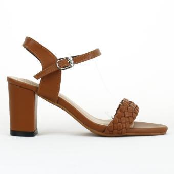 Sandal Da Tết 7cm Màu Vàng bò mờ