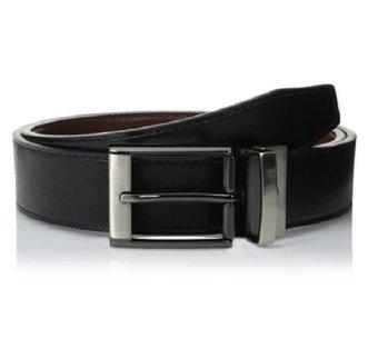 Thắt lưng nam 2 mặt Dockers Men's 30mm Cut Edge Reversible Belt (Mỹ) (Đen nâu)