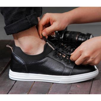 Giày sneaker nam chất liệu da Smartmen SM-04 (Đen)